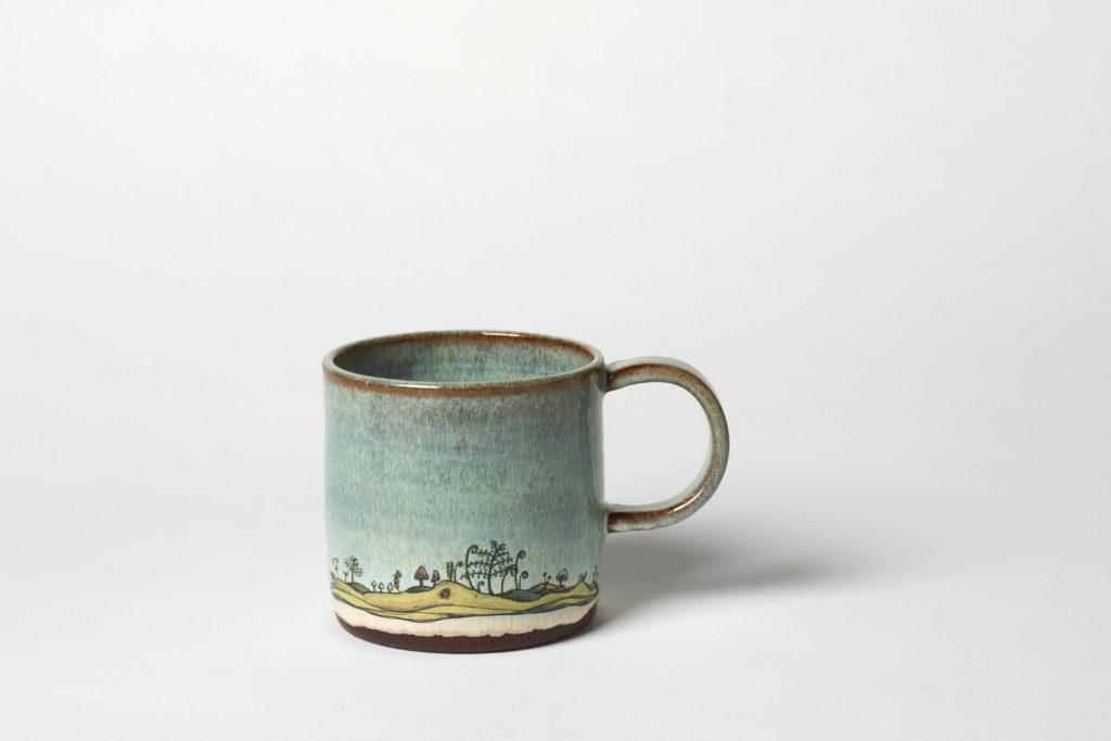 Green Forest Floor Mug,  ~8.5 x 8.5cm, £22 + postage