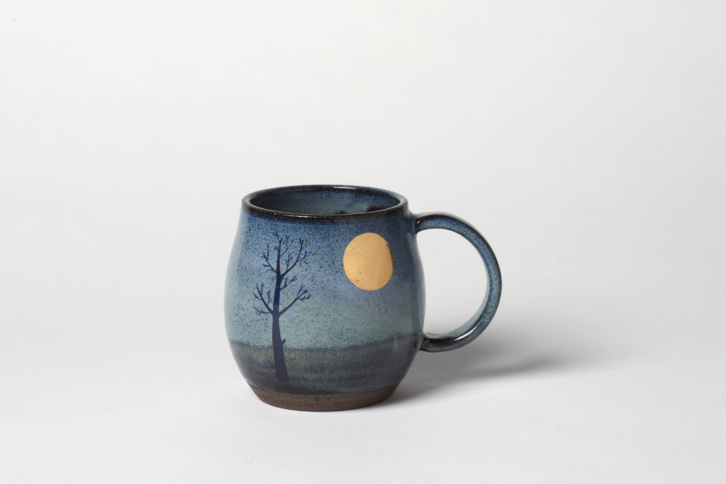 Rounded Dark Moon Mug,  ~8.5 x 8.5cm, £24 + postage