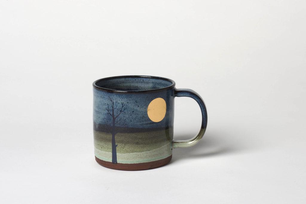 Gold Moon Mug, ~8.5 x 8.5cm, £22 + postage