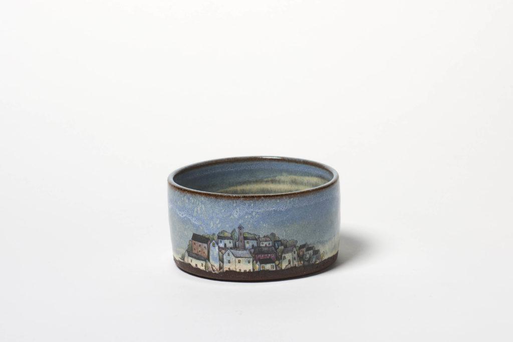Blue Village Sugar Bowl, ~11 x 6cm, £20 + postage