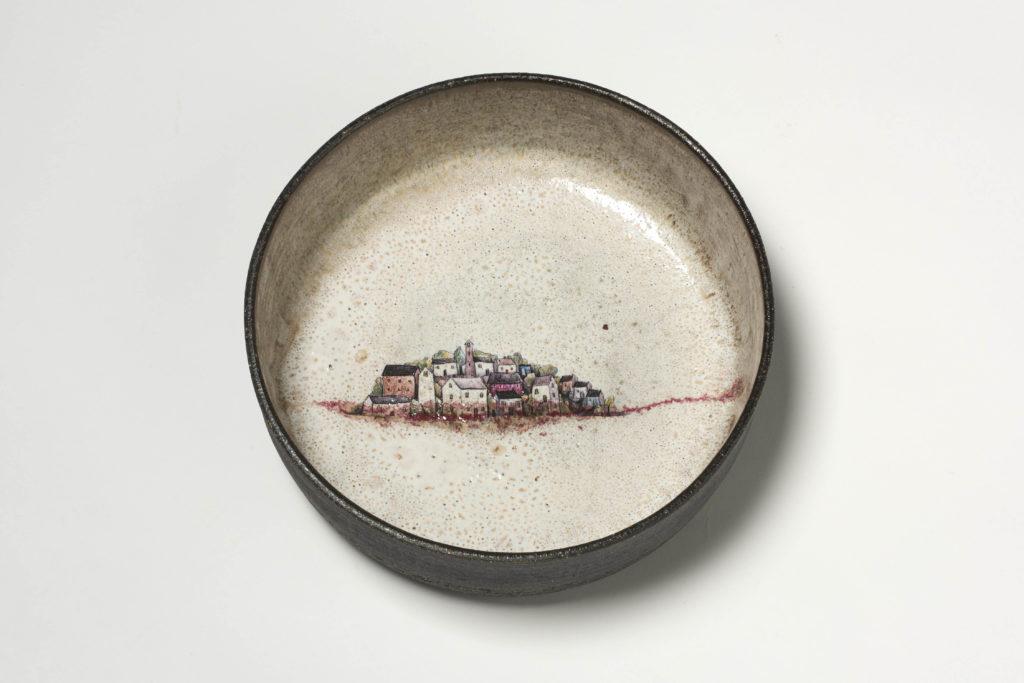Rustic Village Serving Bowl
